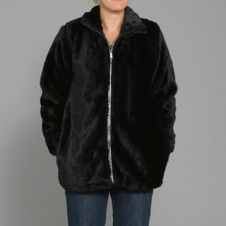 Black Mountain Women's Faux Fur Rhinestone Jacket
