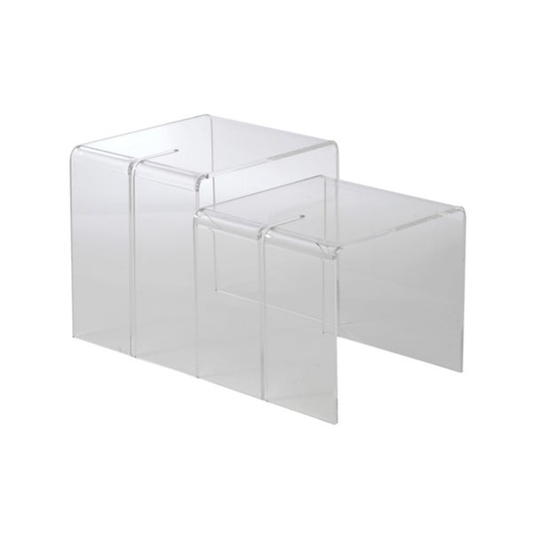 Nelson Clear 2-piece Nesting Tables