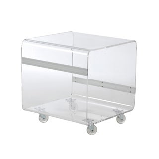Euro Style 'Matthew' Clear Acrylic Side Table