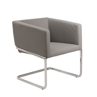 Euro Style 'Ari' Grey Leatherette Lounge Chair