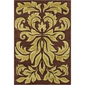 Allie Handmade Floral Brown Wool Rug (5' x 7'6)