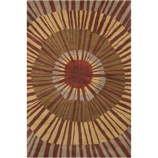 Allie Handmade Abstract Wool Area Rug (5' x 7'6)