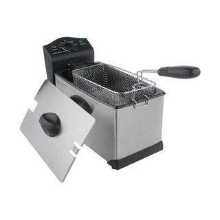Cook's Essentials 3-qt. 1700-watt Stainless Steel Deep Fryer (Refurbished)