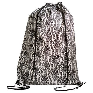 Black/ White Damask Laundry Duffle
