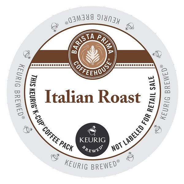 Barista Prima Italian Roast Coffee K-Cups for Keurig Brewers