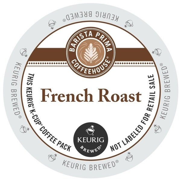 Barista Prima French Roast Coffee K-Cups for Keurig Brewers (Case of 96)
