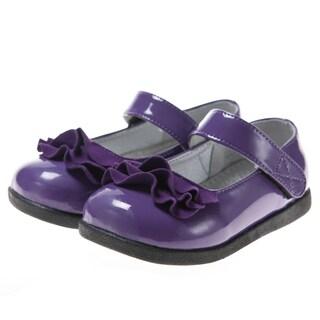 blue toddler ui series purple patent dress