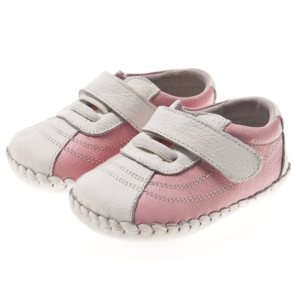 Little Blue Lamb Hand Stitched Pink Leather Walking Shoe