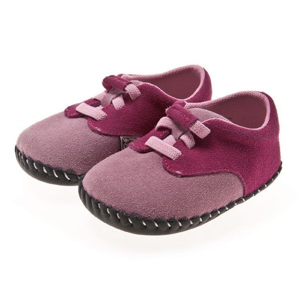 Little Blue Lamb Pink Hand Stitched Leather Walking Shoes