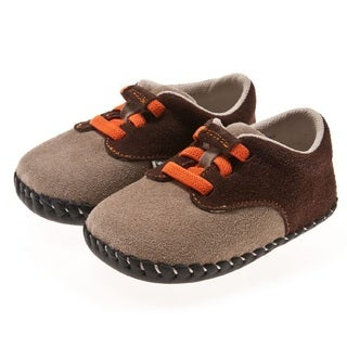 Little Blue Lamb Brown/ Orange Hand Stitched Leather Walking Shoes