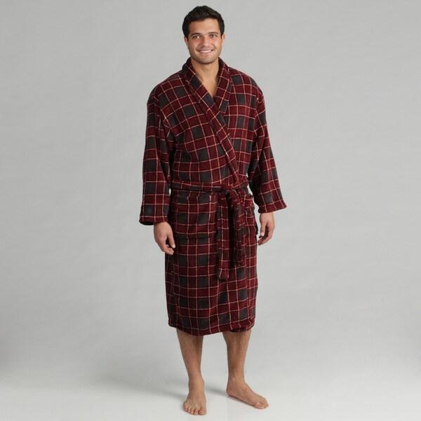Majestic Men's Maroon Fleece Robe