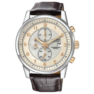 Citizen Men's Stainless Steel 'Eco-Drive' Chronograph Watch