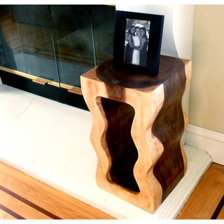 Shaped Monkey Pod Wood Accent Table (Thailand)