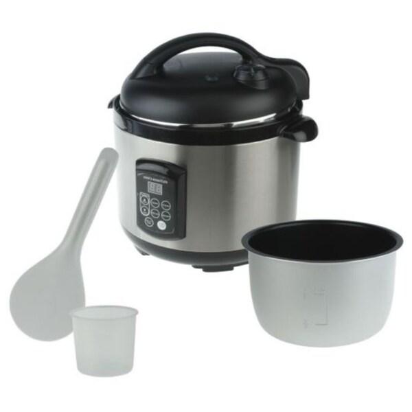 Cooks Essentials 5 -quart Nonstick Voice Command Pressure Cooker