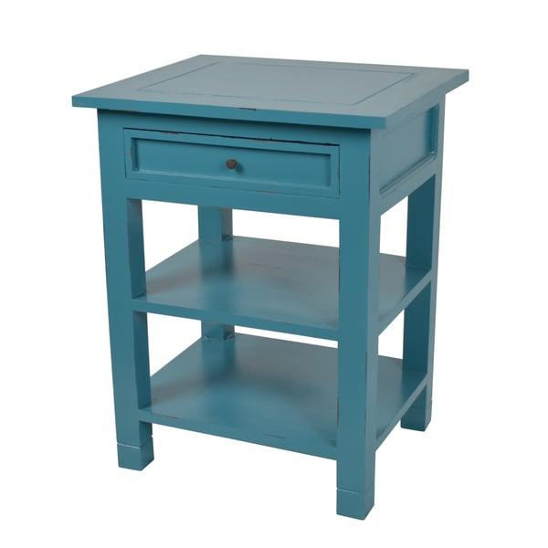 Decorative Blue Newton Contemporary Mahogany Side Table