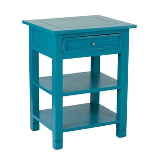 Newton Sky Blue Mahogany One-Drawer Side Table