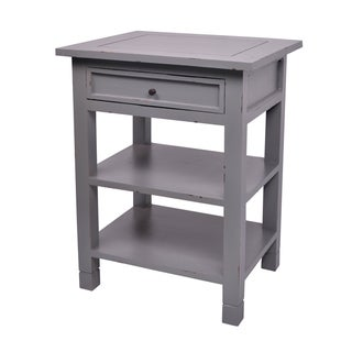 Newton One-Drawer Dark Grey Mahogany Side Table