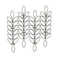 Elements 24-inch Metal Leaf 8-tealight Sconce