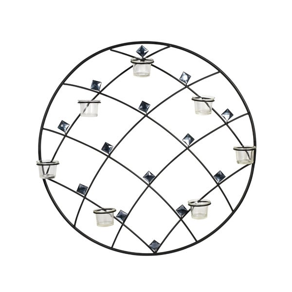 Elements 24-inch Round Diamond Gem Seven-Light Sconce