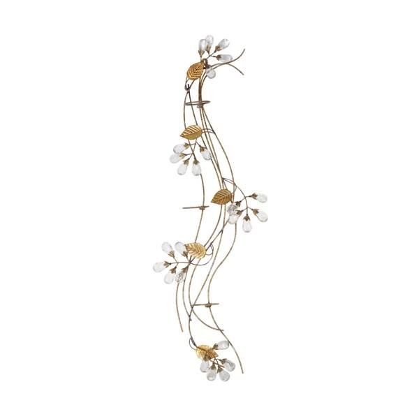 Elements 30-Inch Gold Gem Flower Three-Light Sconce