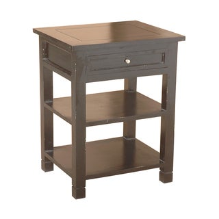 Newton Brown Mahogany One-Drawer Side Table