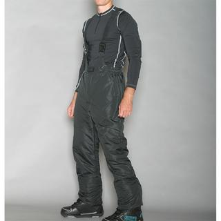 Pulse Men's Classic Black Ski Bib Pants