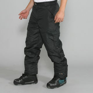Pulse Men's Black Cargo Snowboard Pants