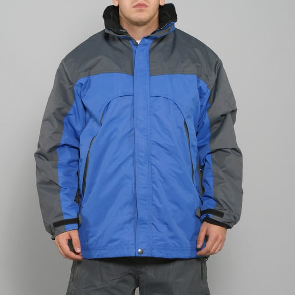 Pulse Men's 3-in-1 System Blue Snowboard Jacket
