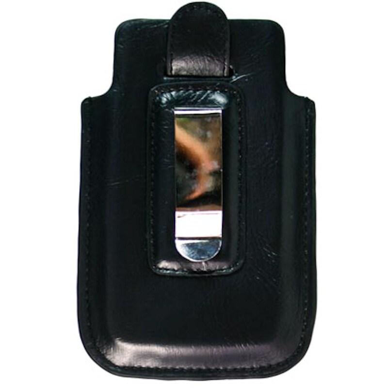 kroo iPhone 5 Black Napa Leather Belt Clip