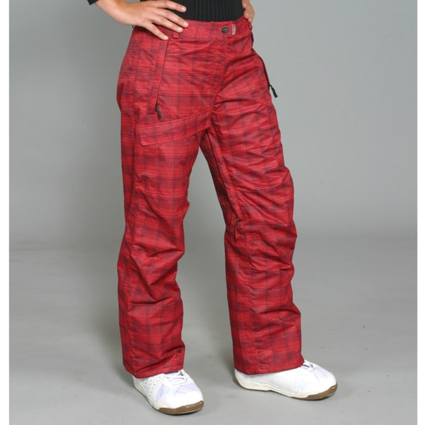 Pulse Women's Lipstick Plaid Ski/Snowboard Pants