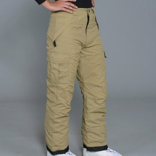 Pulse Women's Khaki Cargo Snowboard Pants