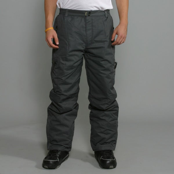 Pulse Men's 'Tech' Charcoal Insulated Snowboard Pants