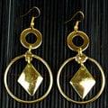 Handmade Brass Diamond Drop Earrings (South Africa)