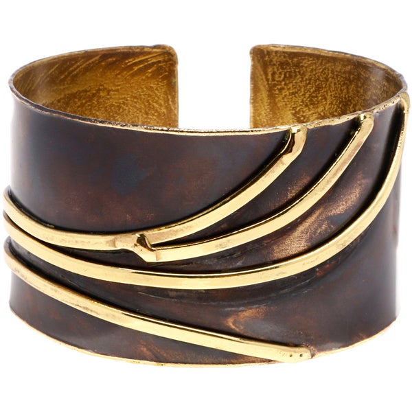 Handcrafted Brass Sway Cuff Bracelet (South Africa)