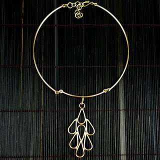 Handmade Brass Raindrops Necklace (South Africa)