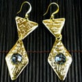 Polished Brass Handmade Smoke Earrings (South Africa)