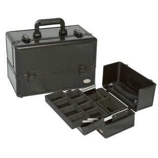 Seya Black Gator Professional Makeup Case