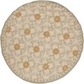 Hand-hooked Maplewood Indoor/Outdoor Moroccan Tile Rug (8' Round)