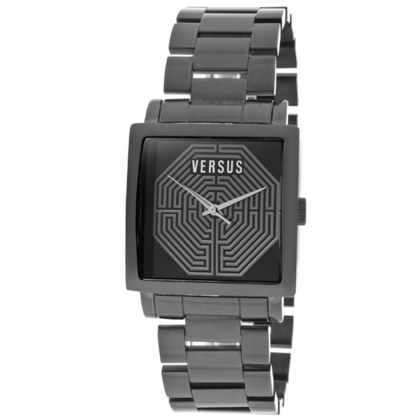 Versus Women's 'Dazzle' Black Ion-Plated Stainless Steel Watch