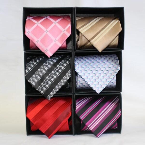 Ferrecci Microfiber Neckties (Pack of 6)