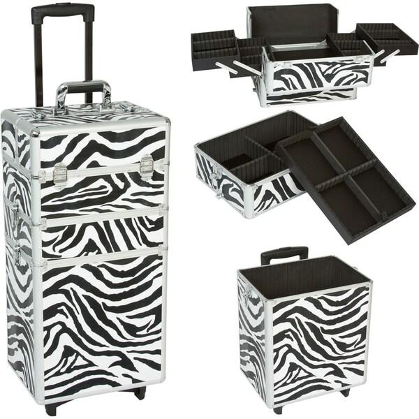 Seya 3-in-1 Zebra Rolling Makeup Case