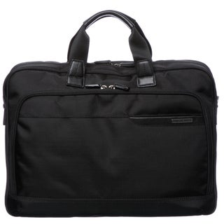 Johnston & Murphy 46-15531 Black 17-inch Slimline Briefcase