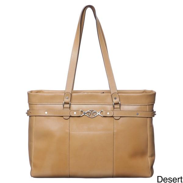 Johnston & Murphy Women's Belted Tote Handbag