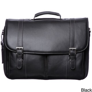 Johnston & Murphy Leather Flap Over Briefcase