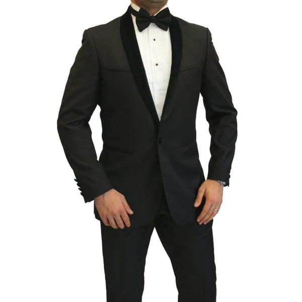 Ferrecci's Men's Velvet Shawl Suit