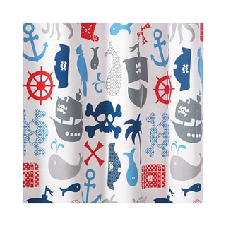 Pirates Fun Kids Cotton Shower Curtain