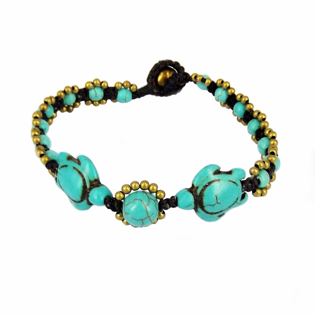 Swimming Turtle Fascination Turquoise Bracelet (Thailand)