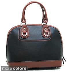 Dasein Women's Two-tone Faux Leather Satchel