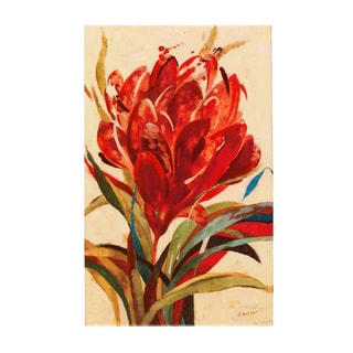 Fabrice de Villeneuve 'Intensive Red' Giclee Canvas Art