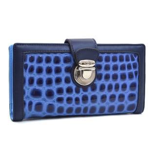 Dasein Patent Croco Chic Bi-fold Checkbook Wallet